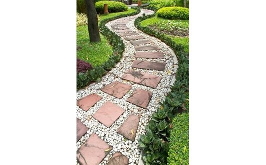 paving walkway for garden design idea - Home and Garden Design Ideas