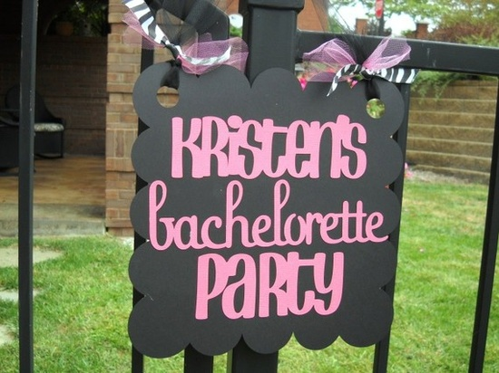 Bachelorette Party Custom Door Sign for Party or Shower by 62Cards, $15.00
