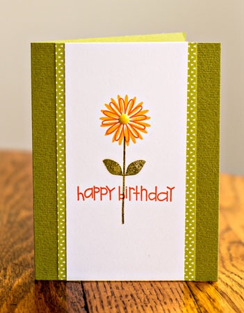 handmade birthday card .. like the look of layering in a column style ...