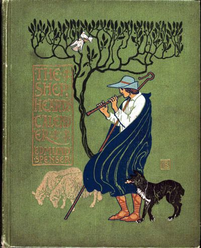 Book cover by Walter Crane. 1898. The Shepheard's Calendar by Edmund Spenser.