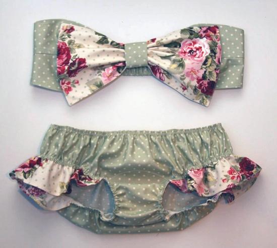 Floral Bow Bandeau