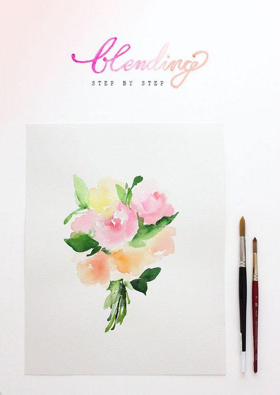 watercolor tutorial on blending