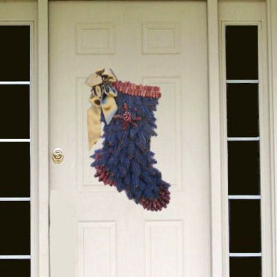 Do It Yourself Stocking Wreath