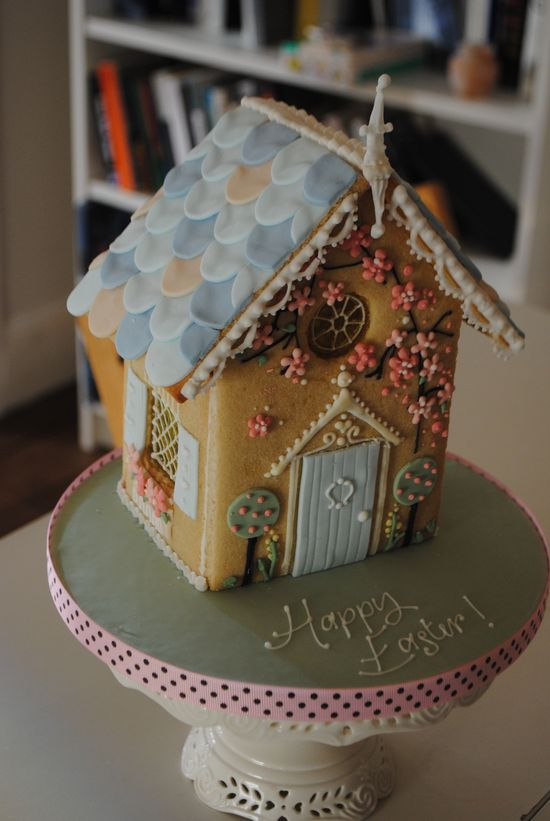 Easter gingerbread house :)