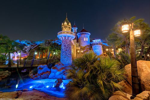 Prince Eric's Castle Under the Nighttime Sea in Fantasyland, Magic Kingdom