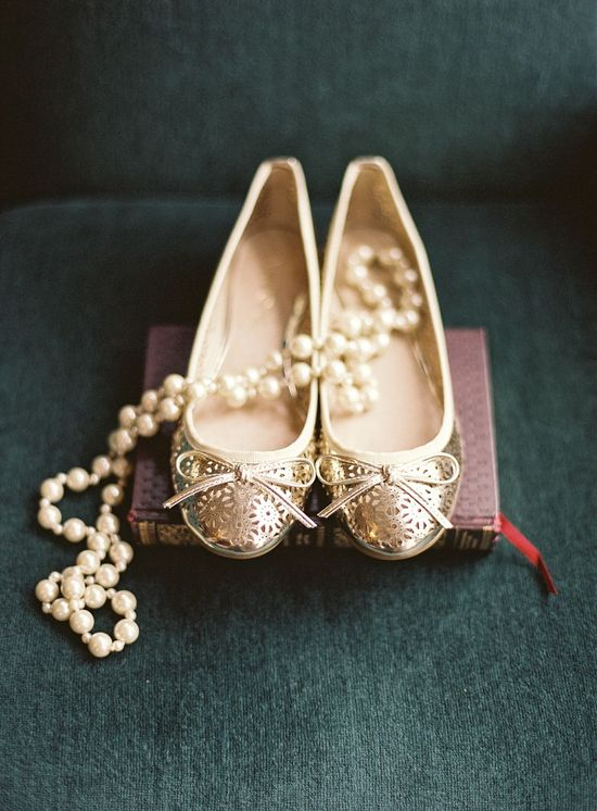 gold shoes / Blush Wedding Photography