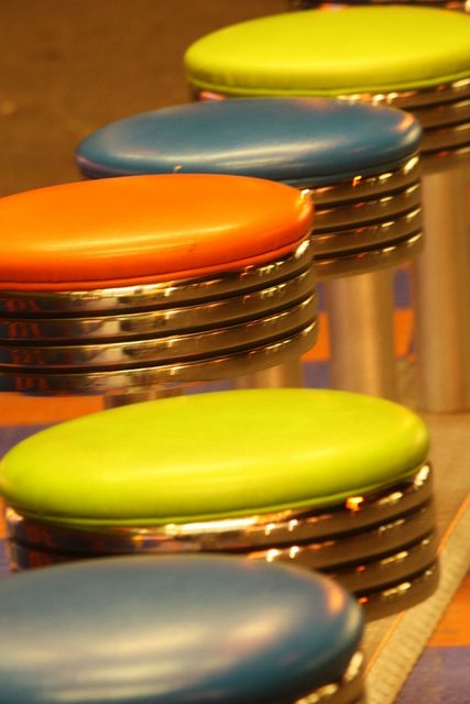 Twirly stools at diner counters- I miss these.