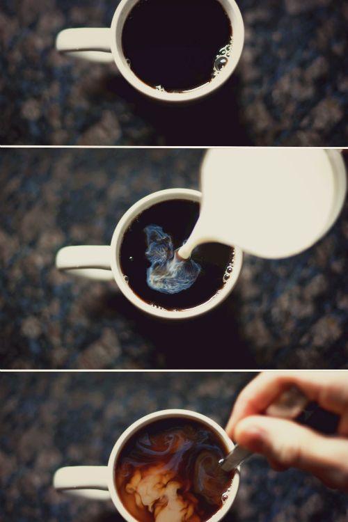 black coffee & wine.