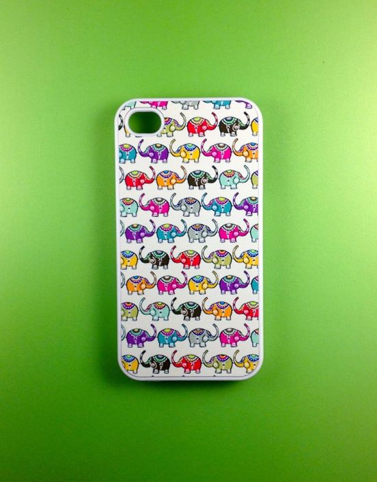 Iphone 4 Case - Elephants Iphone 4s Case, Iphone Case, Iphone 4 Cover