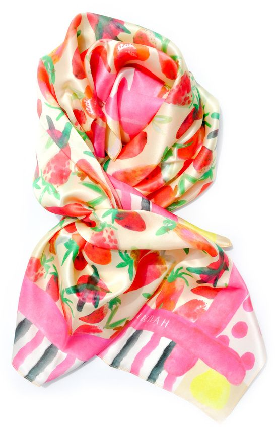 pinning it even though i'm so over summer clothes >>Strawberries & Stripes Scarf