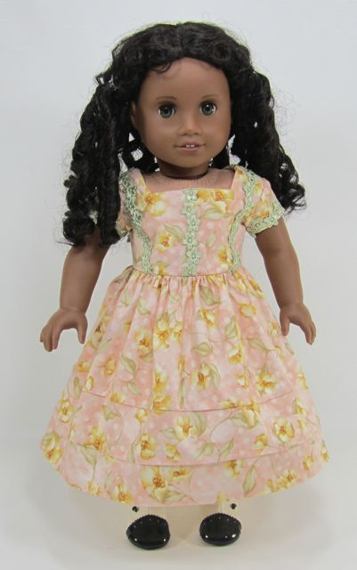 A Picnic Dress for Cecile, Marie-Grace, Addy. $27.00, via Etsy.