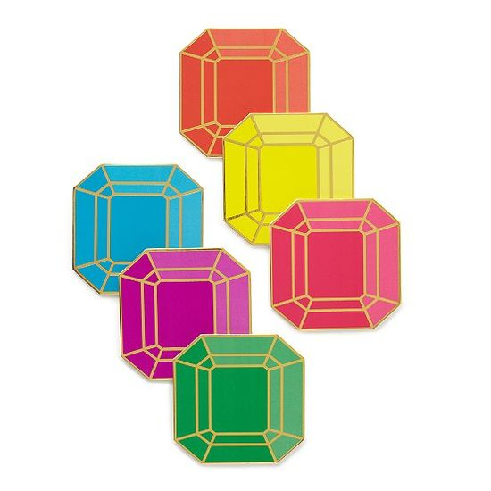 Gem paper coasters by Kate Spade