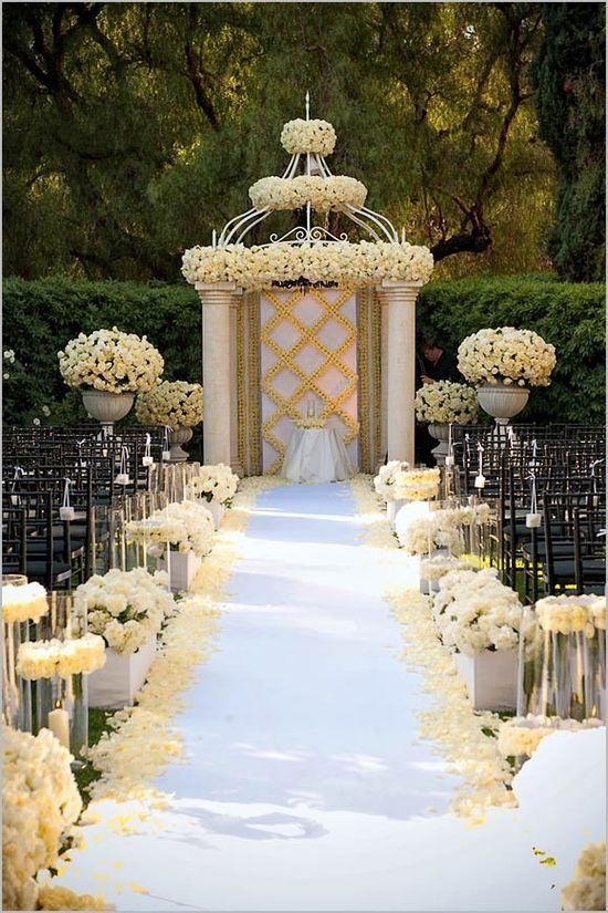 Wedding Ceremony Decoration Ideas, Wedding Aisle Designs