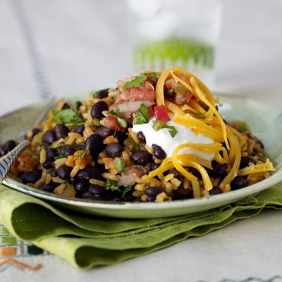 Speedy Black Beans and Mexican Rice