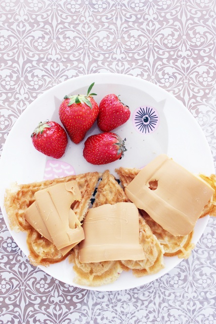 norwegian waffles with sweet brown cheese