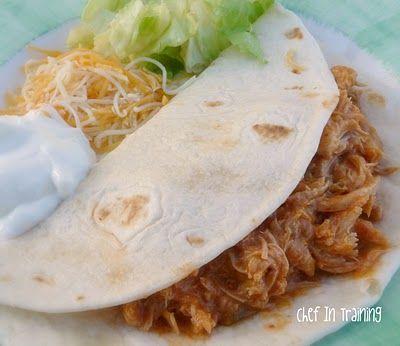 Slow Cooker Salsa Chicken.