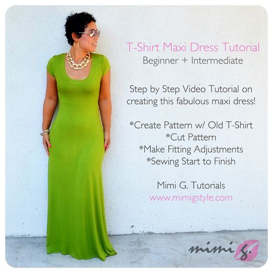 New #DIY T-Shirt Maxi Dress Tutorial!  www.mimigstyle.com