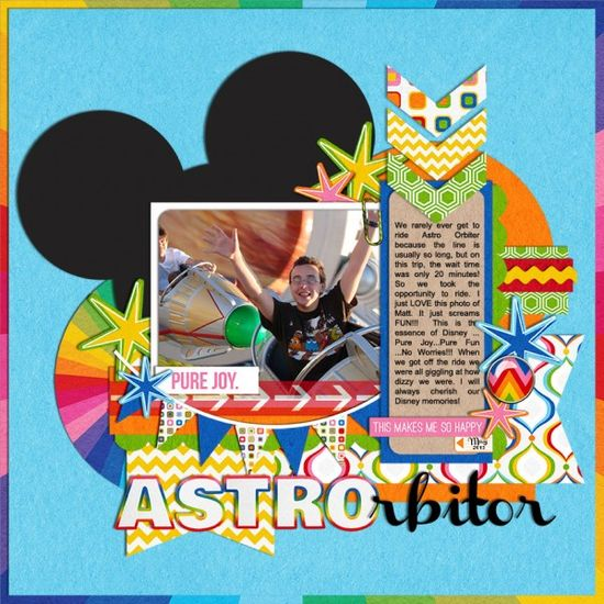 Astro Orbitor - MouseScrappers - Disney Scrapbooking Gallery