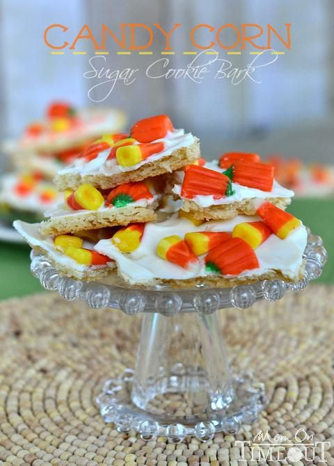 Candy Corn Sugar Cookie Bark is perfect for Halloween!