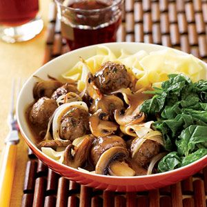This ground beef recipe is sure to become a requested dinner at your house. Serve the meatballs over noodles to soak up every drop of the savory mushroom and onion gravy.