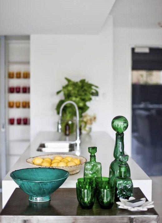 green glass