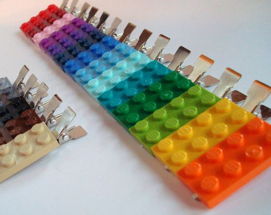 Lego hair clips. I would totally do this.