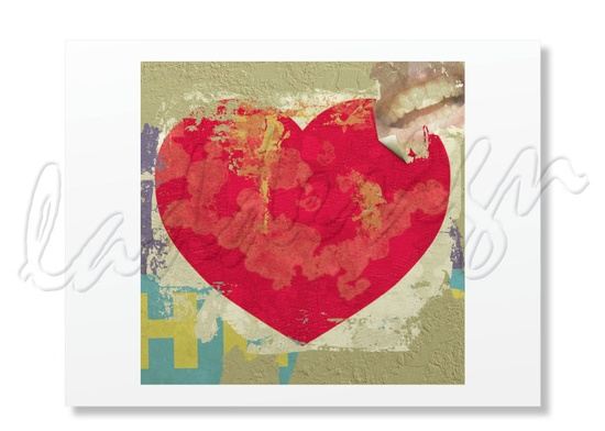 This artist is an old friend of mine and is so talented!   ILoveU Old Poster Heart Card by LADdesign on Etsy, $4.00