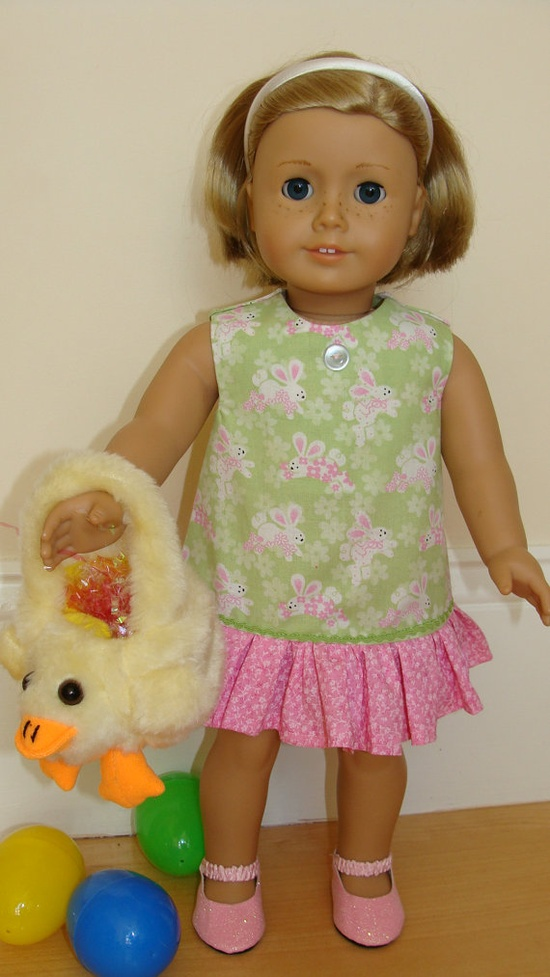 American Girl Doll 18 inch Easter Bunny Spring by SweetPeaKidz, $16.00