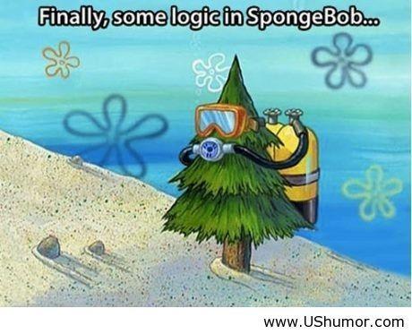 Funny logic in Spongebob cartoons