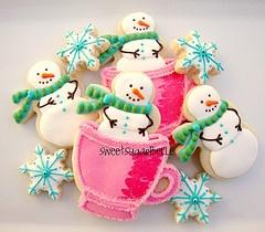 Snowmen cookies.