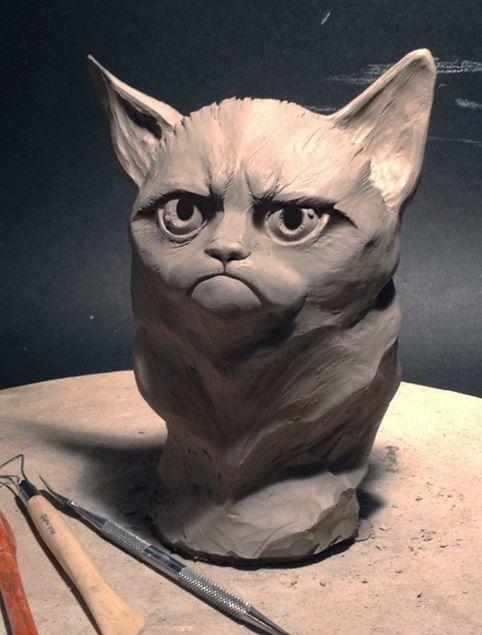 Tard Carving (grumpy cat)