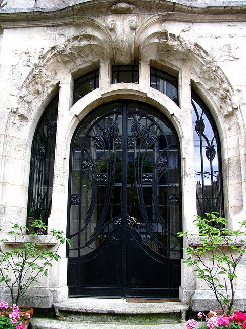 Art Nouveau door, Maison du Dr Jacques (1905), Nancy, France
