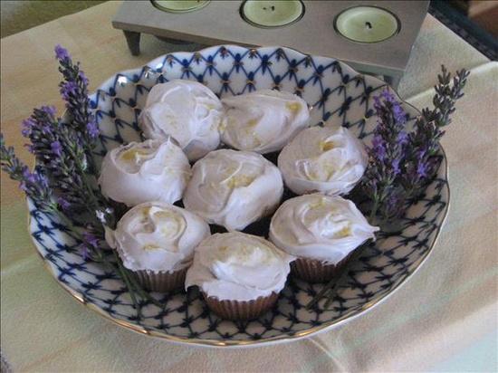 Lavender Cupcakes. @Fooddotcom #edibleFlowers