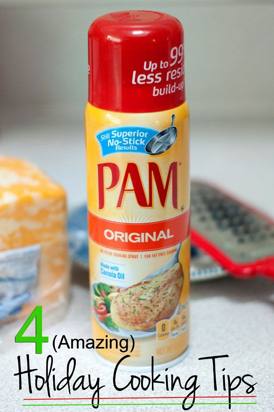 4 Holiday Cooking Tips using PAM cooking spray!