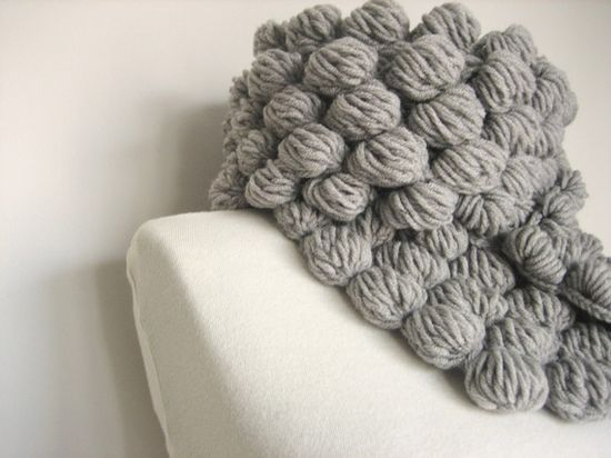 crocheted bubble scarf