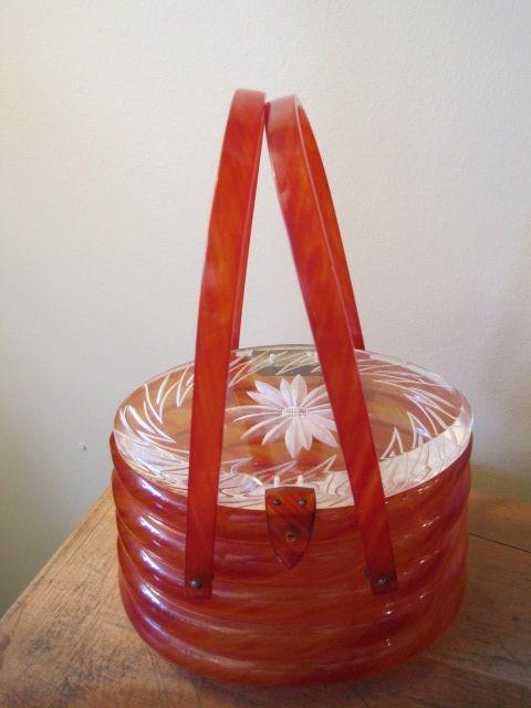 Vintage Lucite Beehive Handbag
