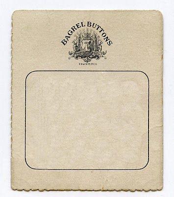 Free Printable ~ Antique Button Card