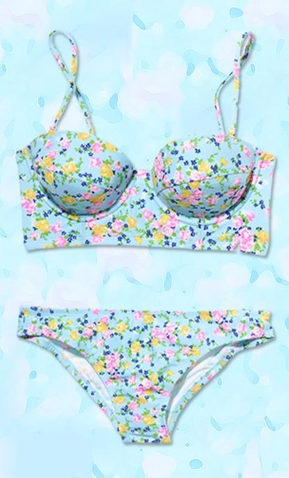 Floral-mani inspired bikini!