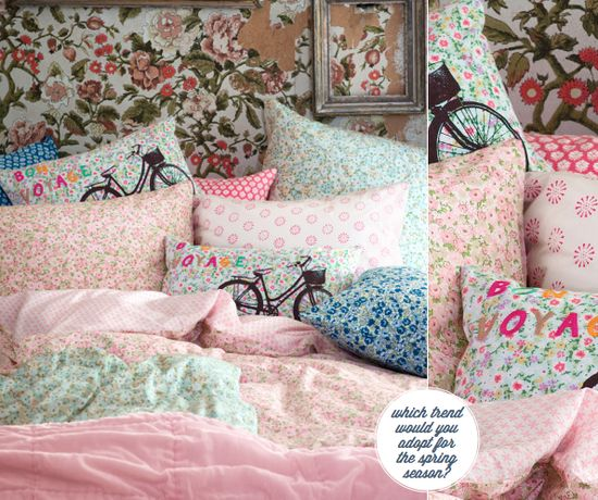 Florals in the H&M Home spring collection 2012