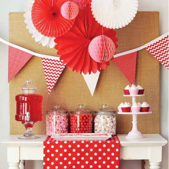 """Sweet & Simple """"Be My Valentine"""" Party Dessert Table"""