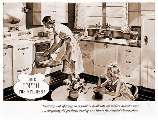 Come into the kitchen! #vintage #1930s #ads #kitchen #domestic_life #homemaker