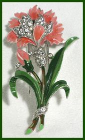 Trifari Jewelry by Alfred Philippe Floral Fur Clip