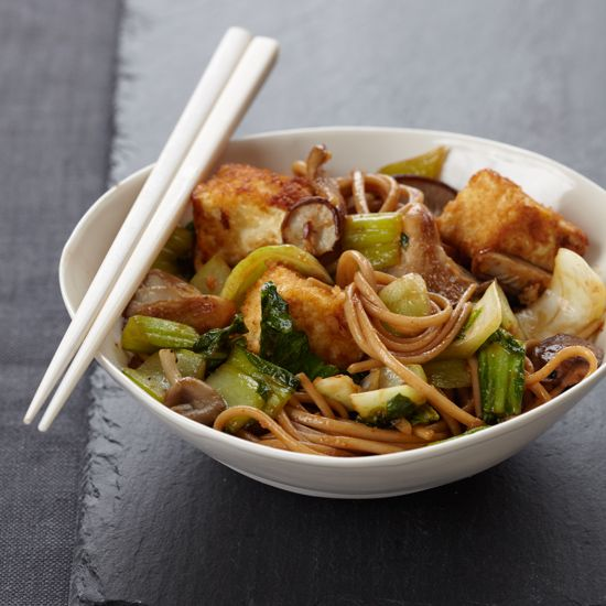Crispy Tofu with Noodles // More Fast Asian Recipes: www.foodandwine.c... #foodandwine