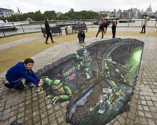 ? Ninja Turtles Street 3D Art ?