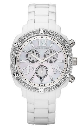 Michael Kors Resin & Double Crystal Bezel Watch