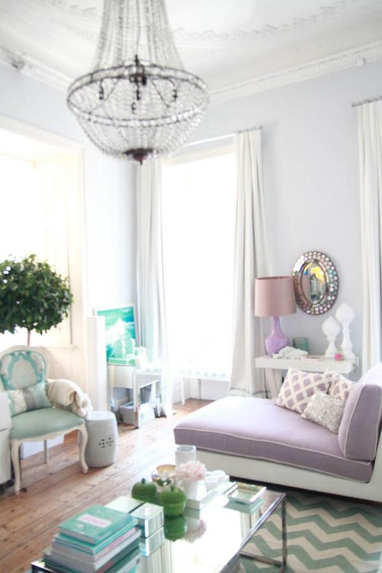 Pretty and Light Living Room