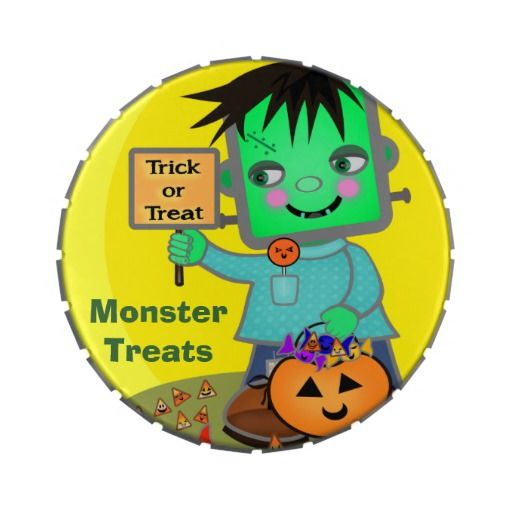 #Frankenstein #Monster #JellyBelly™ Giant #candy #Tin #cute #kids #jamiecreates1 #zazzle