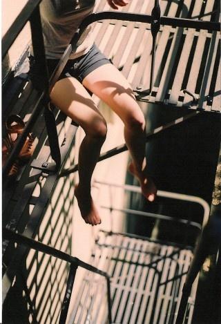 on fire escape