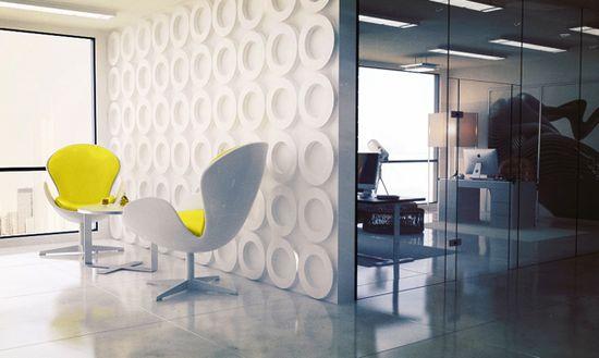 Design office by Denis Melnik, via Behance