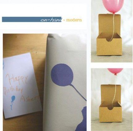 balloon in a box ... so fun